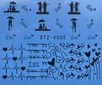 Наклейка водная для дизайна ногтей V005