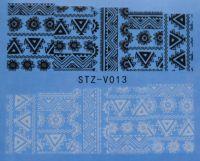 Наклейка водная для дизайна ногтей V013