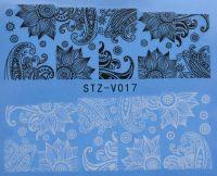 Наклейка водная для дизайна ногтей V017