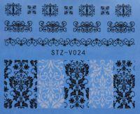 Наклейка водная для дизайна ногтей V024