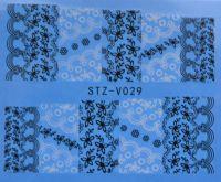 Наклейка водная для дизайна ногтей V029