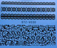 Наклейка водная для дизайна ногтей V030