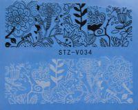 Наклейка водная для дизайна ногтей V034