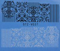 Наклейка водная для дизайна ногтей V037