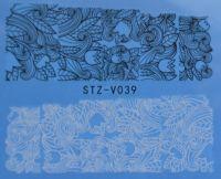 Наклейка водная для дизайна ногтей V039