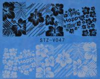 Наклейка водная для дизайна ногтей V047