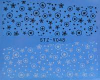 Наклейка водная для дизайна ногтей V048