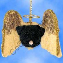 Мопс новогоднее украшение «Мини-ангелок»