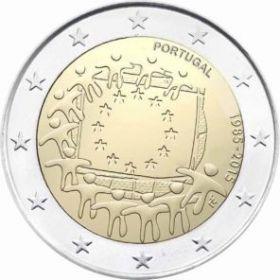 30 лет флагу Евросоюза 2 евро Португалия 2015