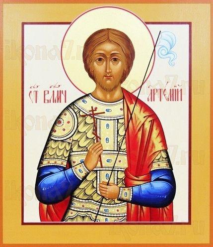 Артемий Антиохийский (рукописная икона)