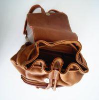 BUFALO BPP02 рыжий женский кожаный рюкзак