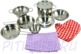 Помогаю Маме. Набор посуды для кухни, в сеточке, 11 предметов