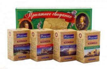Подарочный чайный набор Приятное свидание ( 4 чая по 50гр)