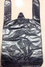 Пакет майка. Чёрная. (24*44) ПНД, 10мкм. В упаковке - 100 шт/1000/4000/