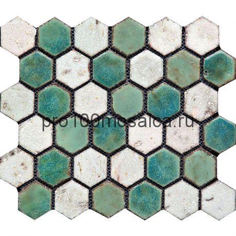 Hexa-3(2). Мозаика СОТЫ 44x49x10, серия Hexa,  размер, мм: 283*245 (GAUDI)