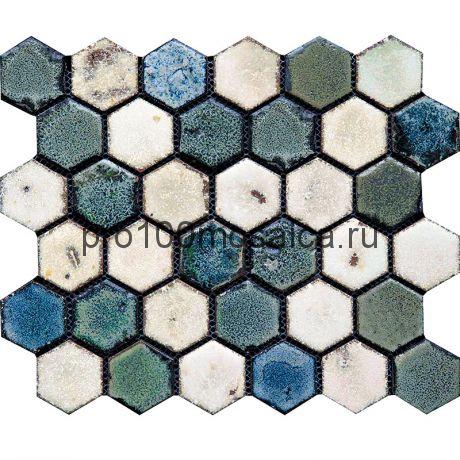 Hexa-4(2). Мозаика СОТЫ 44x49x10, серия Hexa,  размер, мм: 283*245 (GAUDI)