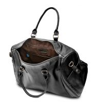 HADLEY LANFORT BLACK дорожная сумка из буйволиной кожи - саквояж