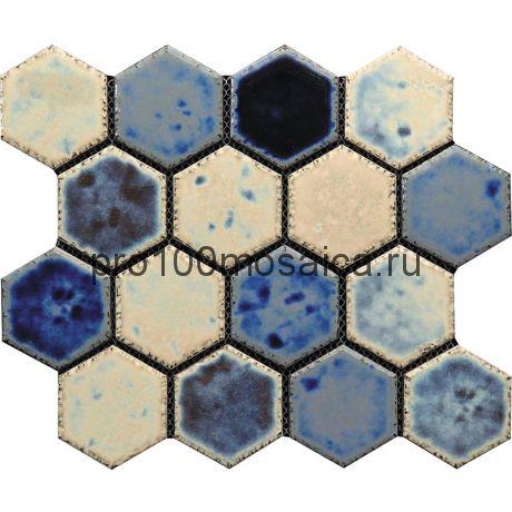 Hexa-23(4). Мозаика СОТЫ 66x77x10, серия Hexa,  размер, мм: 275*240 (GAUDI)