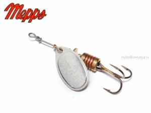 Подарок!  Блесна Mepps Aglia Silver (Серебро) №1 (3,5 гр)