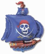 "Пиратский корабль синий, 14""/ 36 см"