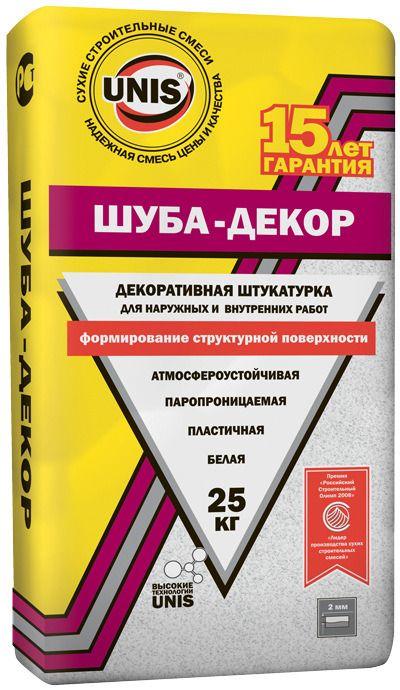 Штукатурка ШУБА-ДЕКОР Юнис 25кг