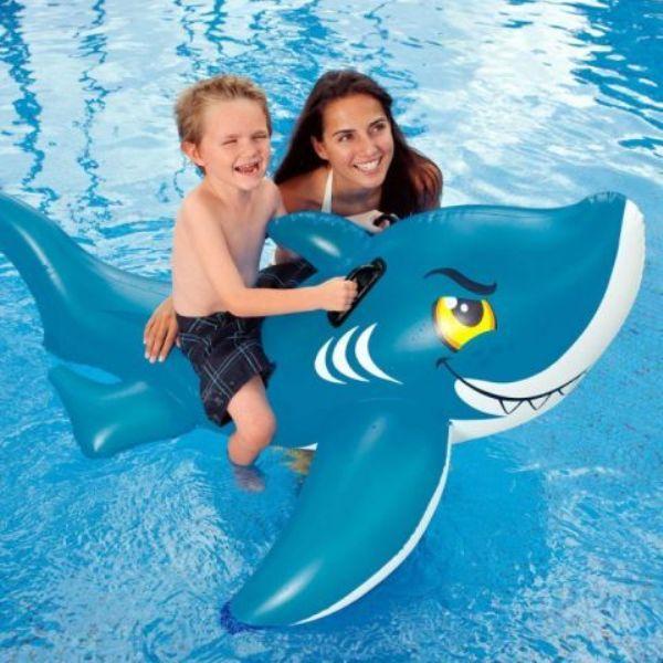 Intex Игрушка для плавания верхом 154 х 104 см. Акула 56567