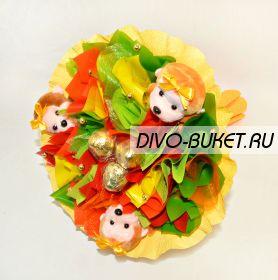 """Букет из игрушек и конфет №611-3К """"Карнавал"""""""