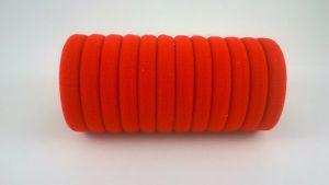 Резинка для волос бесшовная 4 см, цвет №01 красный, (1уп = 24шт)