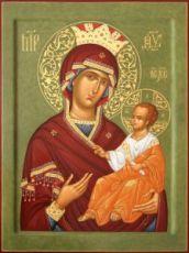 Избавительница икона Божией Матери (рукописная)