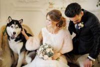Меховые палантины для невесты