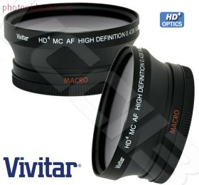 Широкоугольная насадка 72 мм 0,43x Vivtar с макрокольцом HD4