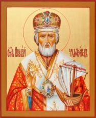 Николай Чудотворец (рукописная икона)