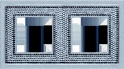 Crystal De Luxe Art  Рамка 2-ная, Bright Chrome
