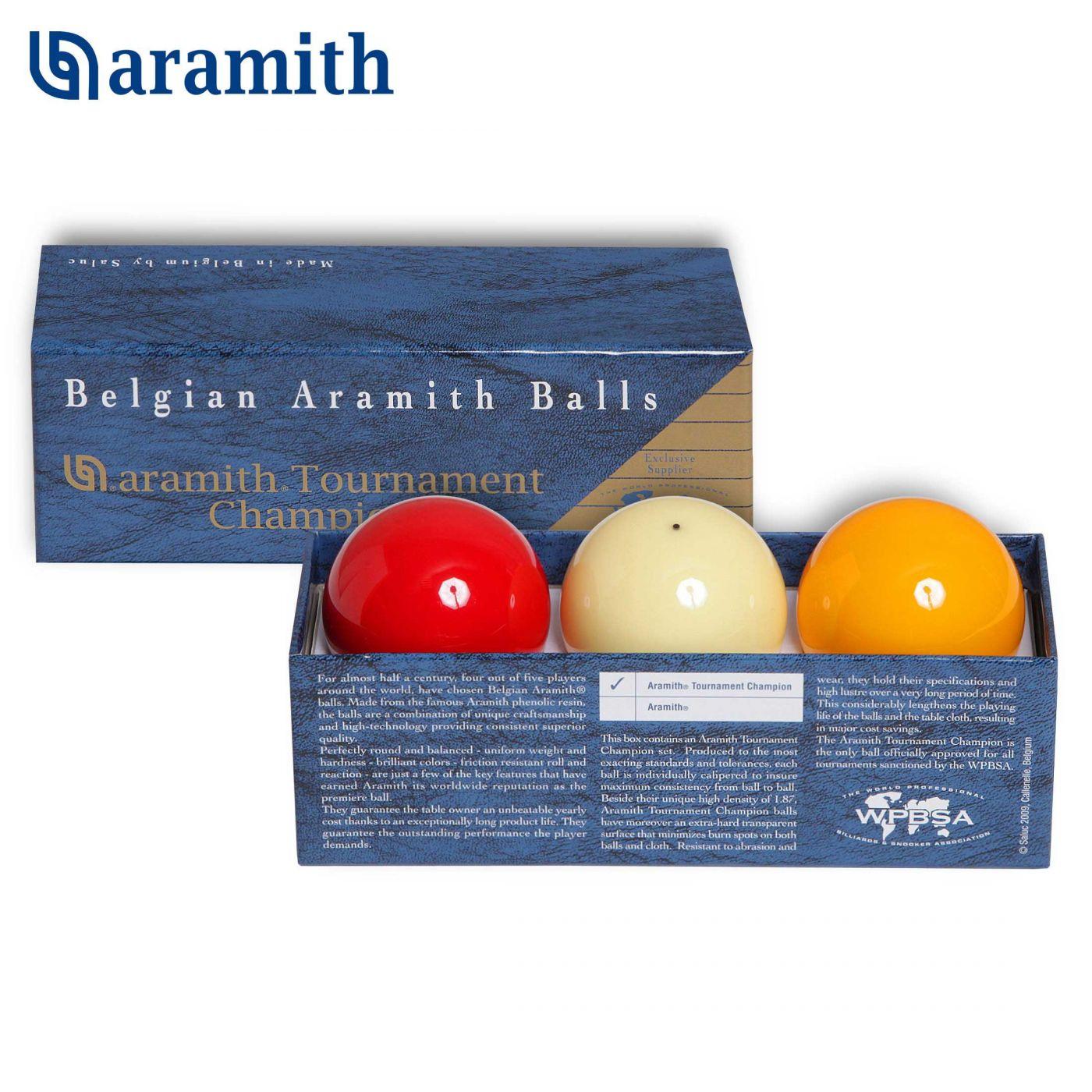 Шары Aramith Tournament Champion Snooker ø52,4мм 3шара, артикул 06619
