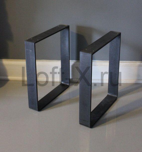 Опора стола 40см (Цвет: Чёрный (глянцевый), Ширина полосы: 40мм)