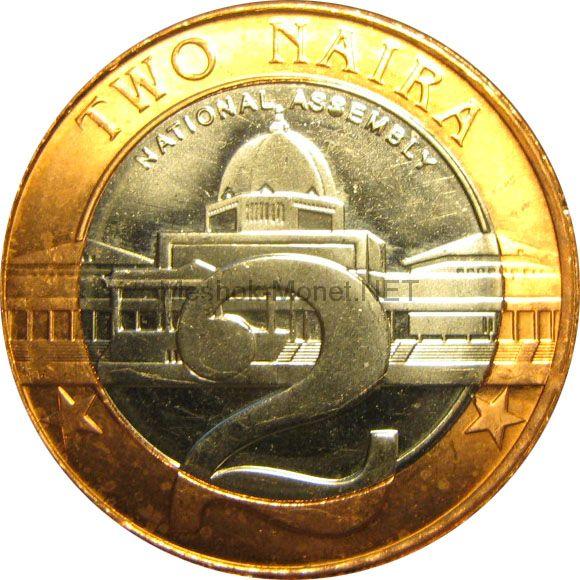 Нигерия 2 найра 2006 г.