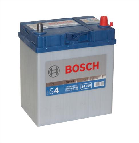 Автомобильный аккумулятор АКБ BOSCH (БОШ) S4 018 / 540 126 033  S4 40Ач о.п. (тонкие кл.)