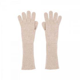 длинные кашемировые перчатки женские (100% драгоценный кашемир) , цвет Молочный коктейль CASHMERE RIB CUFF GLOVE Beetroot