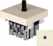 Fede Выключатель поворотный стандартн. с подсветкой 10А 250В~, беж.