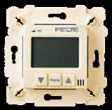 Fede Термостат для теплых полов, цифровой, 16A, с LED дисплеем,  с датчиком 2.5 м, бежевый