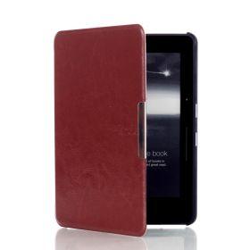 Обложка (чехол) для Amazon Kindle Voyage с клипсой (темно-коричневый)