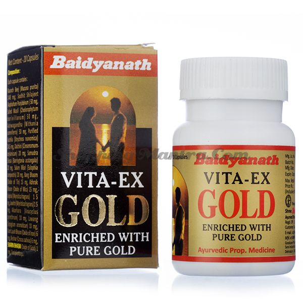 Вита Экс Голд стимулирующий препарат для мужчин Байдьянатх / Vita-Ex Gold Baidyanath