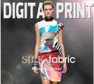 цифровая печать на  шелковой ткани