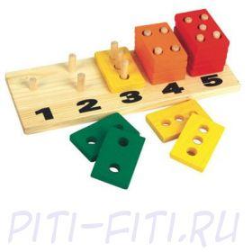 """МДИ (Мир деревянной игрушки). Пирамидки-счёт """"Прямоугольники 5 в 1"""""""