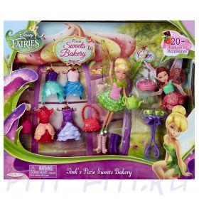 """Disney Fairies. Игровой набор кукла Дисней Фея 11 см с акс. """"Чаепитие"""""""