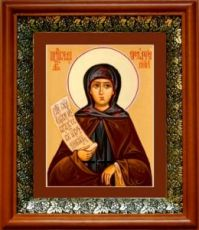 Мелания Римляныня (19х22), светлый киот