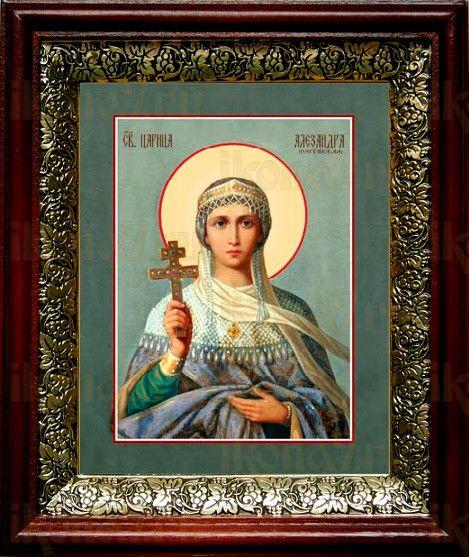 Александра Понтийская (19х22), темный киот