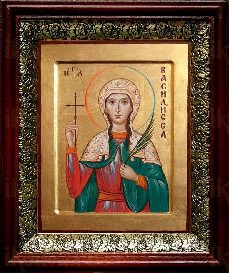 Василиса Никомидийская (19х22), темный киот