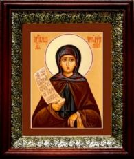 Мелания Римляныня (19х22), темный киот