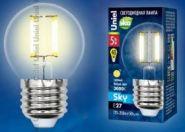 Светодиодная лампа Uniel LED-G45-6W/WW/E27/CL PLS02WH